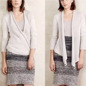 Angel of the North Light Gray Wrap Cardigan